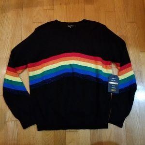 Sweet Rain Glitter Rainbow Pride Sweater